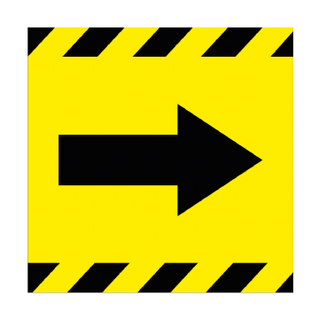 Directional Arrow - RIGHT - 350mm Square